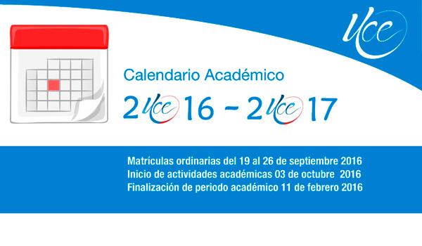 CALENDARIO DE ACTIVIDADES ACADÉMICAS 2016-2017