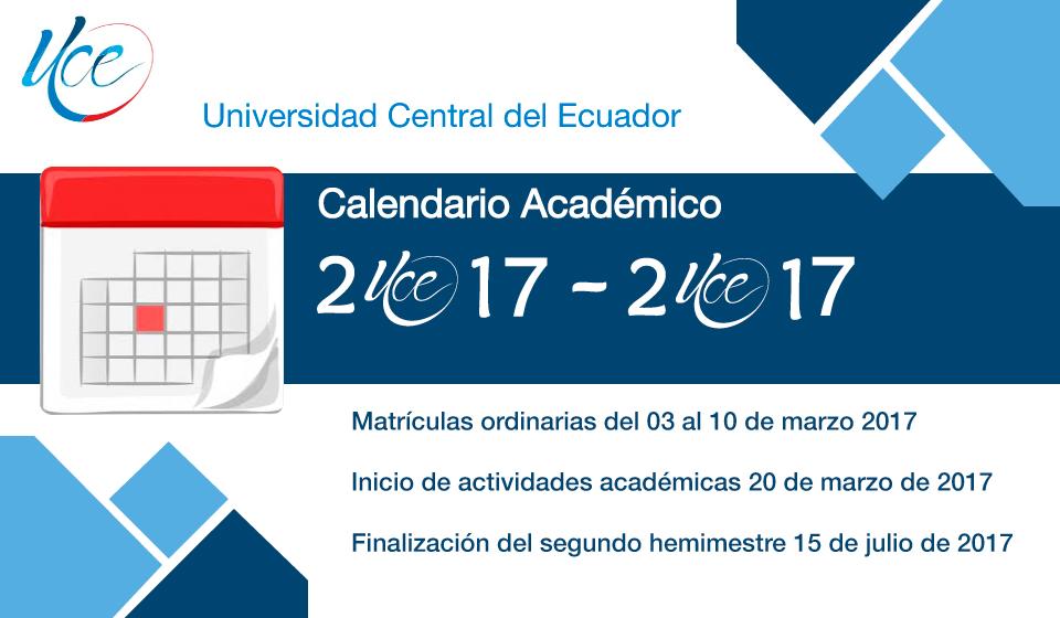 Calendario Académico 2017-2017