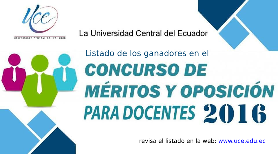 Home universidad central del ecuador for Concurso meritos docentes 2016